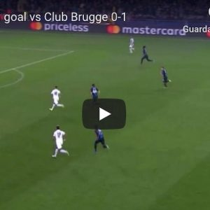 Icardi video gol Psg Bruges YouTube Champions League