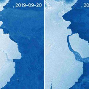 Iceberg di 315 miliardi di tonnellate si è staccato dall'Antartide