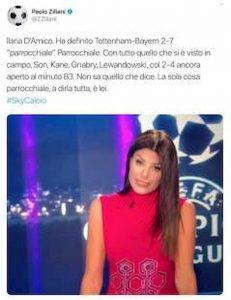 Ilaria D'Amico Paolo Ziliani Tottenham Liverpool 2 7 parrocchiale per niente