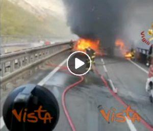 bardonecchia incidente fiamme tir