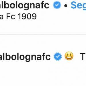 Juventus Bologna Mihajlovic panchina post Instagram società rossoblù