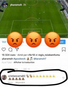 Karamoh insulto razzista Instagram lo denuncia nelle storie FOTO