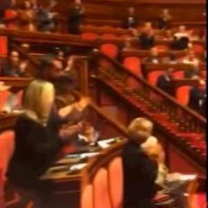 Liliana Segre, standing ovation in Senato dopo il sì alla mozione. Ma Lega, FI e FdI non si alzano VIDEO