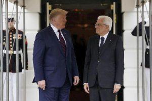 Trump e Mattarella (Ansa)
