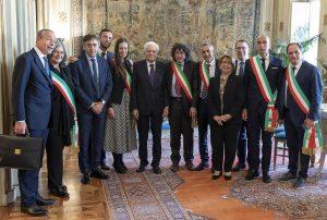 Quirinale delegazione Anci Poste Italiane