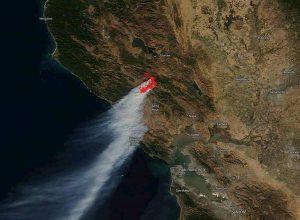 incendi in california visti dal satellite nasa