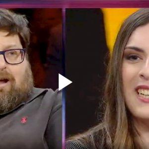 Giovanna Cristina Vivinetto e Mario Adinolfi a Non è l'Arena