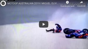 Oliveira incidente Australia MotoGp video YouTube qualifiche spostate domenica