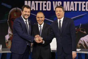 Matteo Renzi e Matteo Salvini