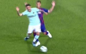 Rigore Barcellona Inter Sensi Lenglet niente VAR per arbitro Skomina