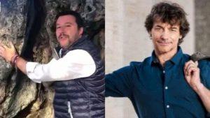 Salvini come Alberto Angela: racconta la storia dell'ulivo più antico dell'Umbria e lo abbraccia