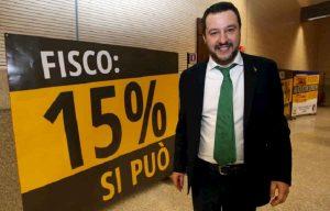 Tasse: con Matteo Salvini al governo più 0,6% di quando c'era Gentiloni