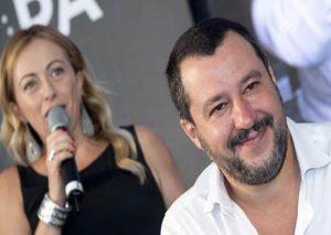 Salvini e Meloni, Ansa