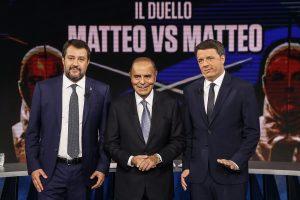 Matteo Salvini Renzi Porta a Porta Vespa