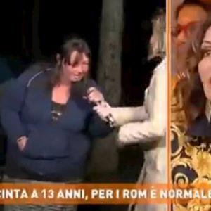 """Dritto e Rovescio, mamma rom insulta Daniela Santanchè: """"Zitta putt***"""""""