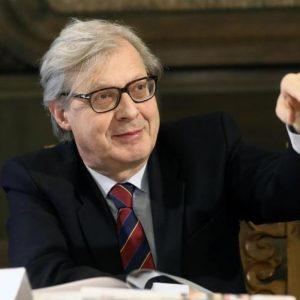 Uomo Vitruviano Leonardo Vittorio Sgarbi