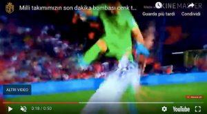 Strakosha papera video YouTube Albania Turchia Tosun gol