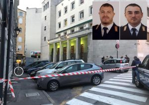 Trieste sparatoria questura video