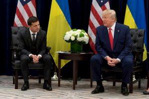 Il presidente ucriano Volodymir Zelensky e il presidente americano Donald Trump