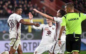 Genoa-Torino 0-1, gol Bremer. Favilli Agudelo fermi al palo