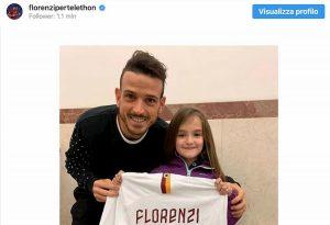 Roma, Florenzi mantiene la promessa: ecco la maglia per la piccola Michela FOTO INSTAGRAM