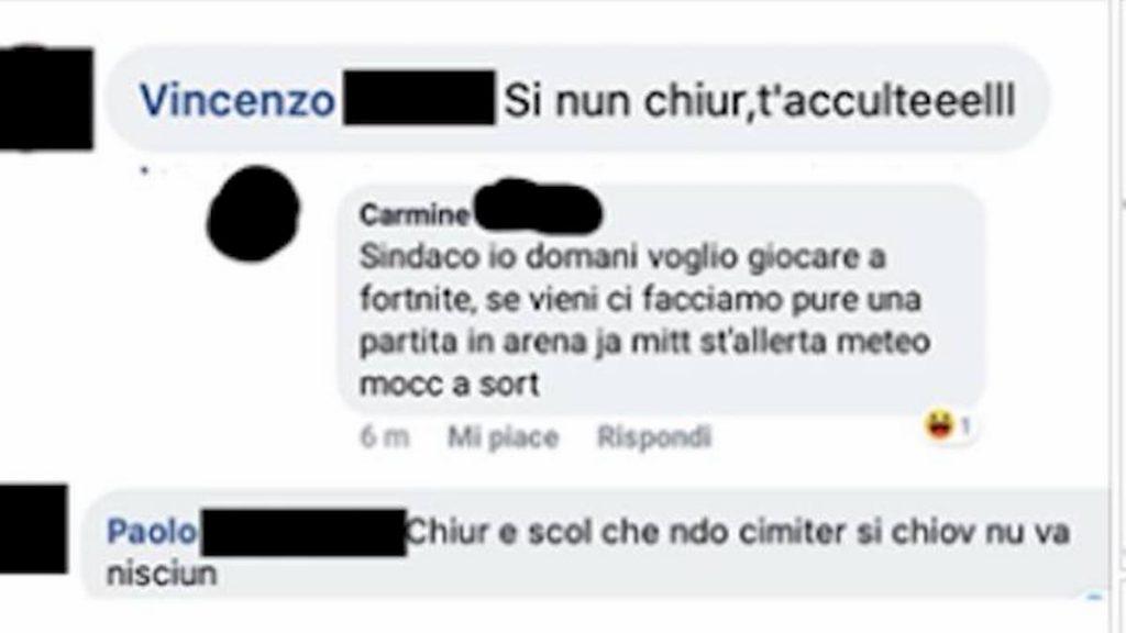 sindaco aversa minacce facebook