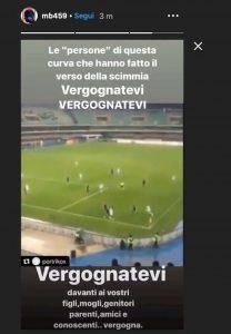 Balotelli cori razzisti tifosi Verona gioca figlia Pia Instagram