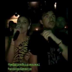 Belen Rodriguez e la storiella con Andrea Damante: serata al karaoke e poi... C'è il video