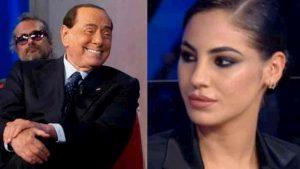 """Berlusconi incontra Giulia De Lellis al Maurizio Costanzo Show: """"Sei bellissima"""""""