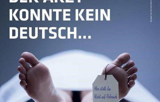 """Alto Adige, manifesto col cadavere in obitorio: """"Medico non sapeva tedesco"""". A firma Eva Klotz FOTO"""