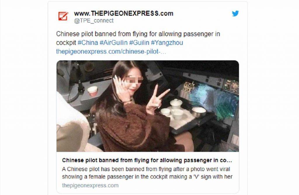 Cina, pilota lasciacomandi