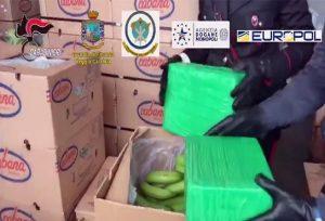 Il carico di cocaina sequestrato a Gioia Tauro, Ansa