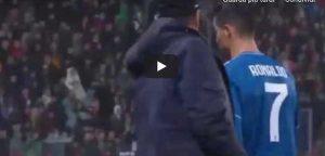 Cristiano Ronaldo furioso dopo sostituzione in Lokomotiv Juventus video youtube