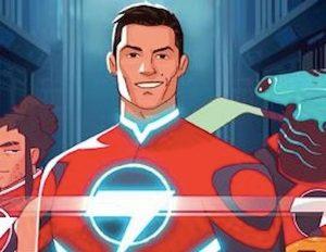 Cristiano Ronaldo supereroe Striker Force 7