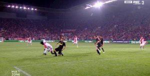 Rigore Slavia-Inter, gol annullato a Lukaku dal var