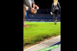 Diletta Leotta sfila al San Paolo lato b su Instagram e YouTube