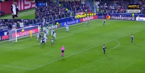 Juventus-Atletico, Dybala gol punizione da posizione impossibile