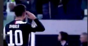 Dybala, saluto militare Juventus-Atletico: ecco perché lo ha fatto