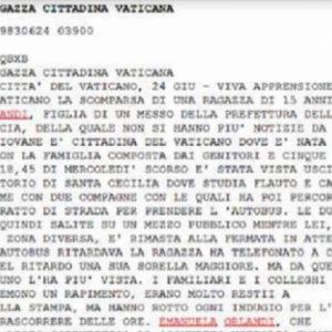 Mirella Gregori, Emanuela Orlandi: chi le rapì in Vaticano? Un network internazionale? Ogni anno in Italia spariscono 200 minorenni...