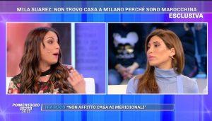 Francesca De Andrè e Mila Suarez a Pomeriggio 5