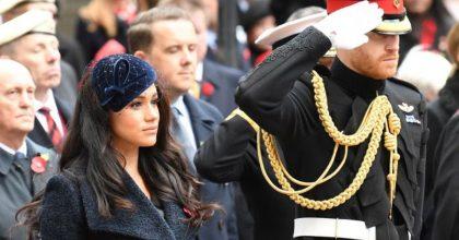 Harry, Meghan Markle per la prima volta in pubblico con William e Kate Middleton