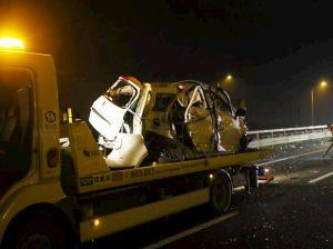 Incidente sulla Brebemi, auto contro il guardrail e si ribalta: morto un bimbo di 4 anni