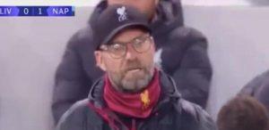 Liverpool-Napoli, gol Mertens: reazione Klopp è un meme sui social