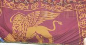 Venezia, tifosi Vicenza allo stadio con bandiere Leone