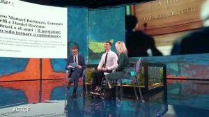 """Che Tempo Che Fa, Manuel Bortuzzo: """"Potrei tornare a camminare"""" VIDEO"""