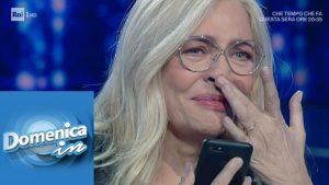 Domenica In, Mara Venier piange durante l'intervista a Gigi D'Alessio