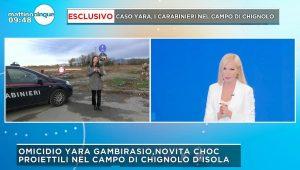 Yara Gambirasio, trovati proiettili sul campo di Chignolo d'Isola di durante la diretta di Mattino 5