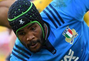 Il nazionale italiano di rugby Maxime Mbandà, Ansa