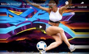 Melody Donchet meglio di Cristiano Ronaldo nel freestyle video YouTube