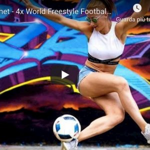 Melody Donchet meglio di Cristiano Ronaldo nel freestyle video YouTube